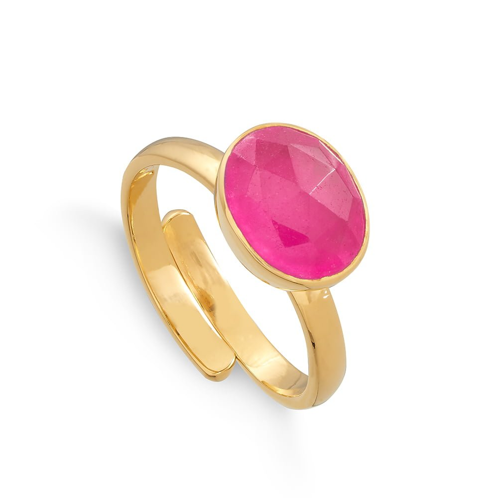 SVP Adjustable Ring Atomic Midi in pale Ruby Quartz ATR02RZYV