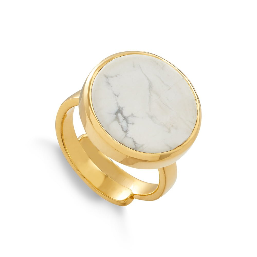 Bella Luna Howlite Gold Ring
