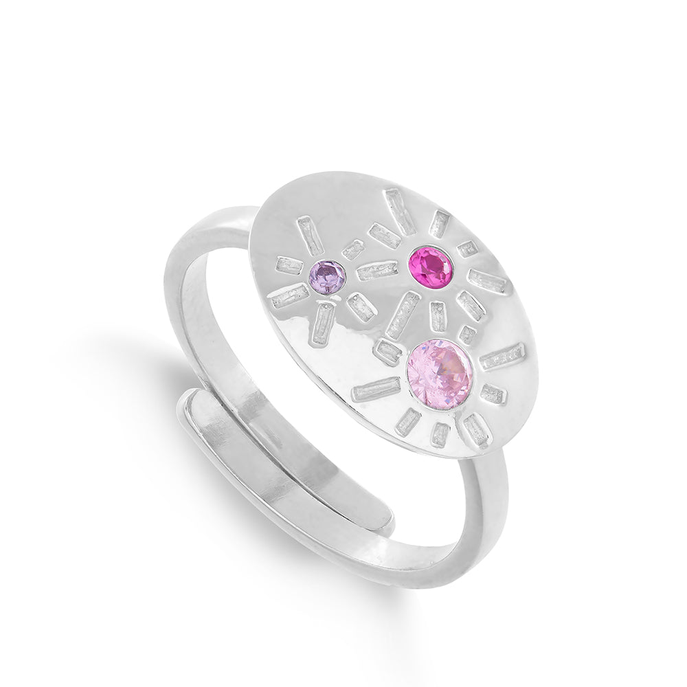 Copy of Dynamite Pink Mixed Quartz Silver Ring