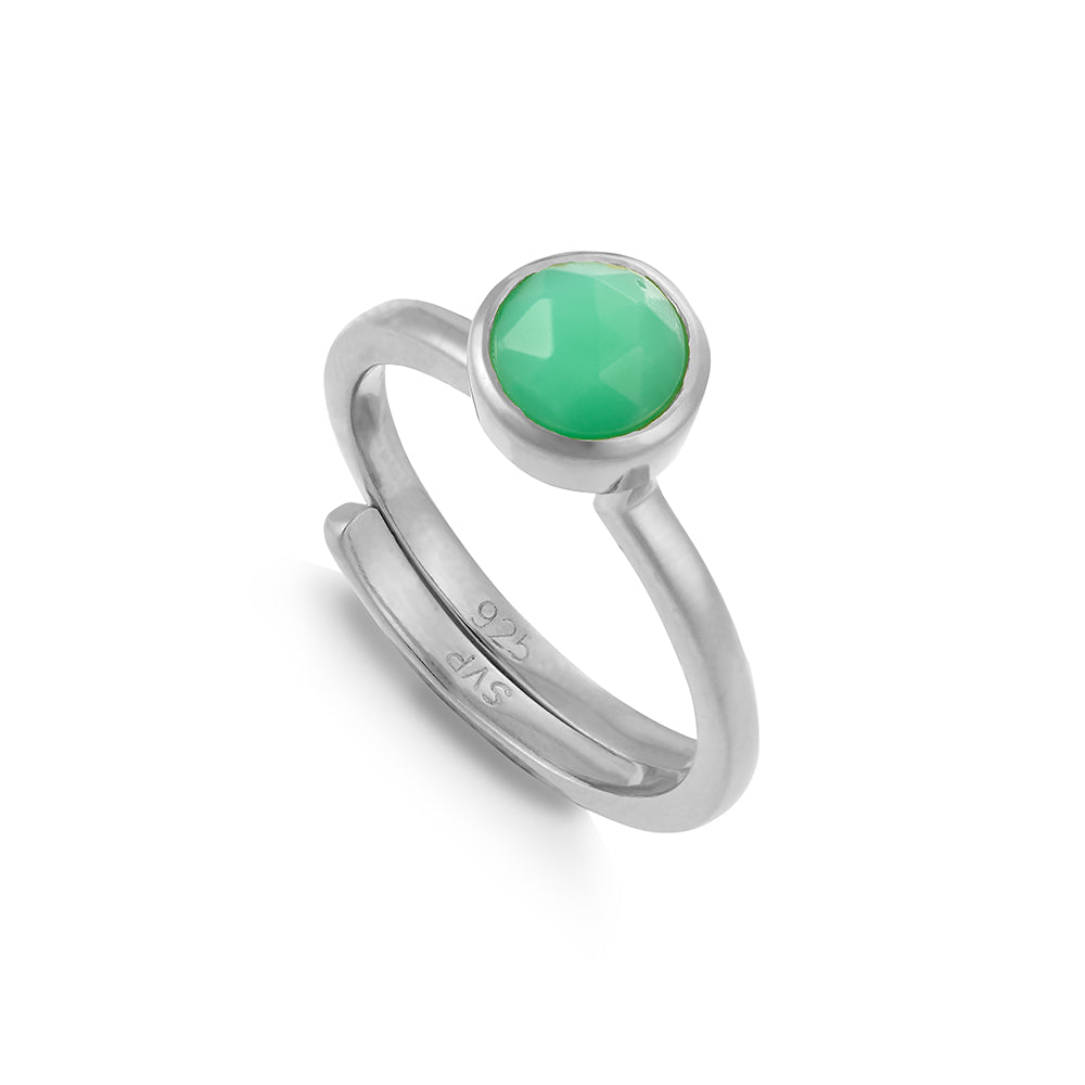 Shine On Hope Chrysoprase Silver Ring