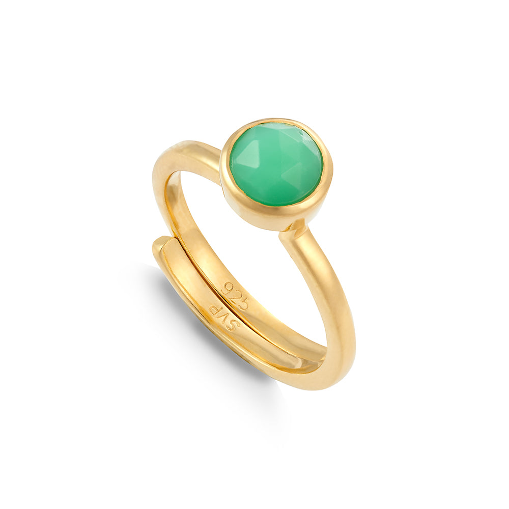 Shine On Hope Chrysoprase Gold Ring