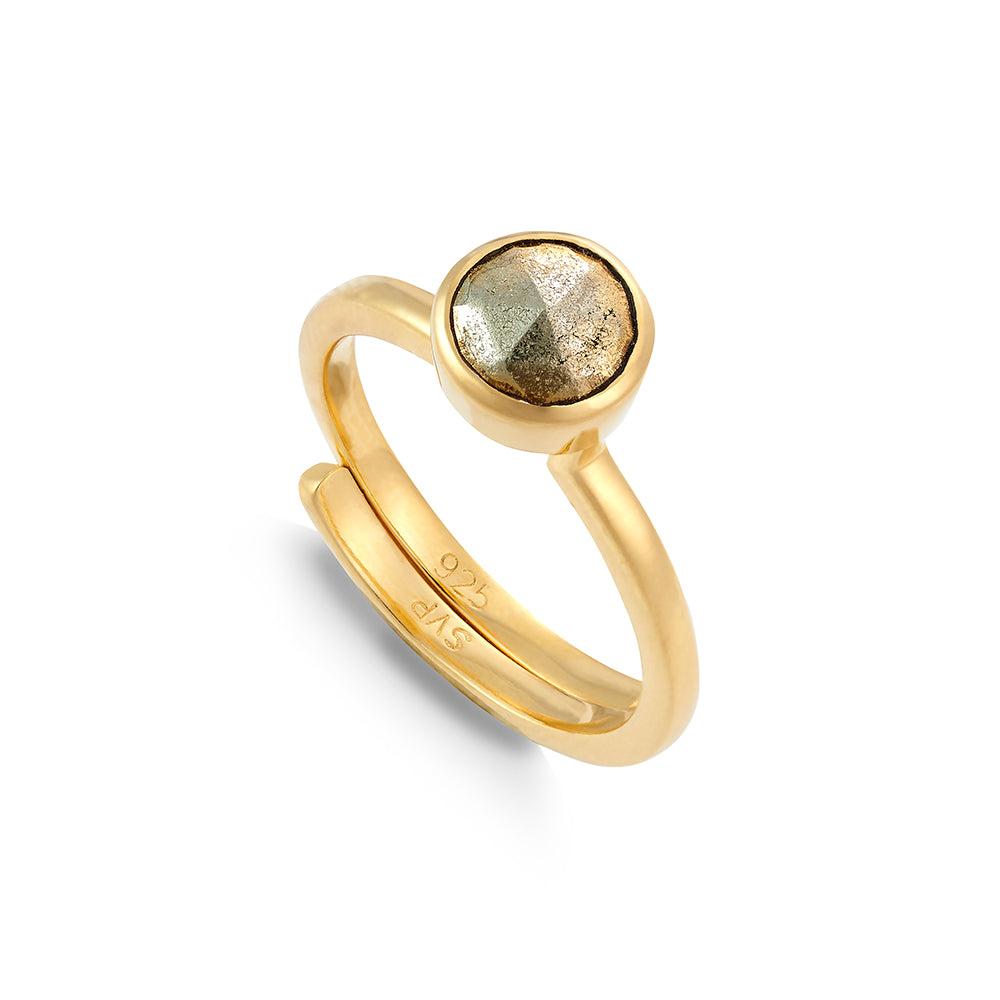 Shine On Hope Pyrite Gold Ring