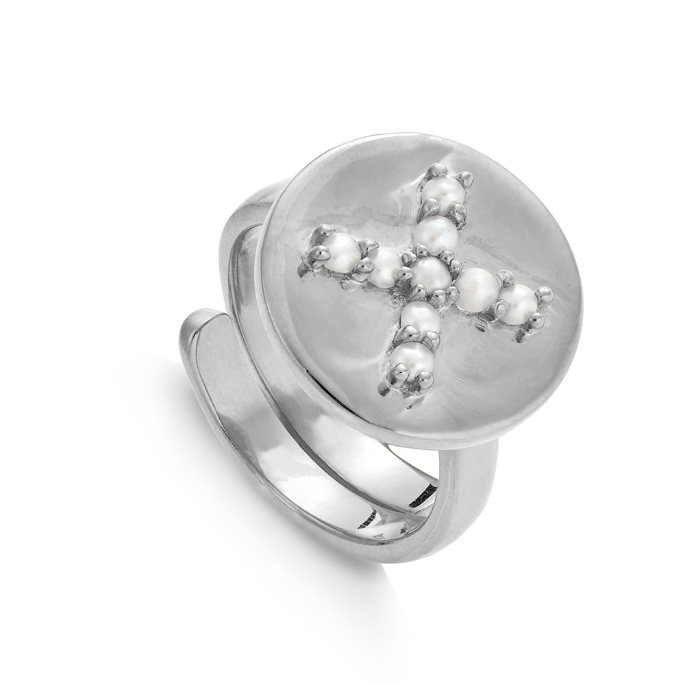 HKR01WPYV-Hugs-And-Kisses-White-Pearl-Sterling-Silver-SVP-Adjustable-Ring, SVP_Jewellery_Box for Adjustable Rings, SVP_Jewellery_Box for Adjustable Rings, SVP_Jewellery_Box for Adjustable Rings, White Pearl gemstone meaning card - give me wisdom, SVP Jewellery ring sizer