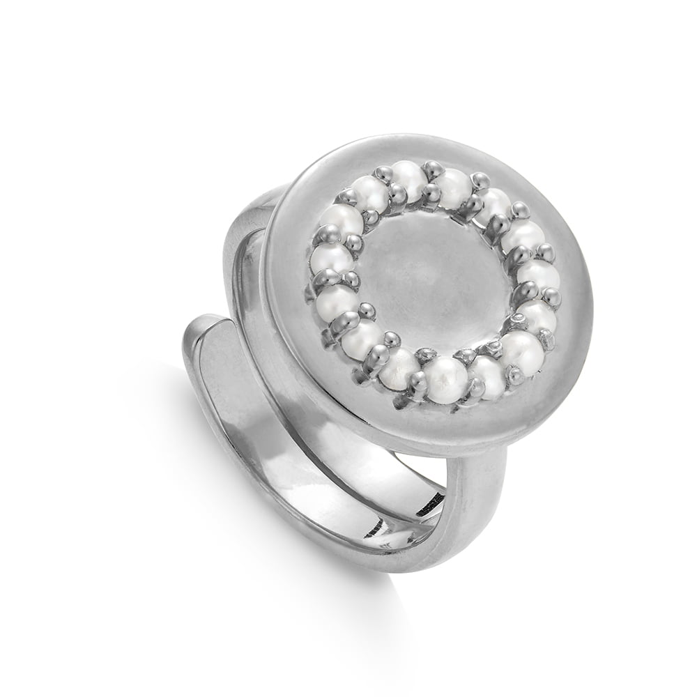HKR02WPSS-Hugs-And-Kisses-White-Pearl-Sterling-Silver-SVP-Adjustable-Ring, SVP_Jewellery_Box for Adjustable Rings, SVP_Jewellery_Box for Adjustable Rings, SVP_Jewellery_Box for Adjustable Rings, White Pearl gemstone meaning card - give me wisdom, SVP Jewellery ring sizer