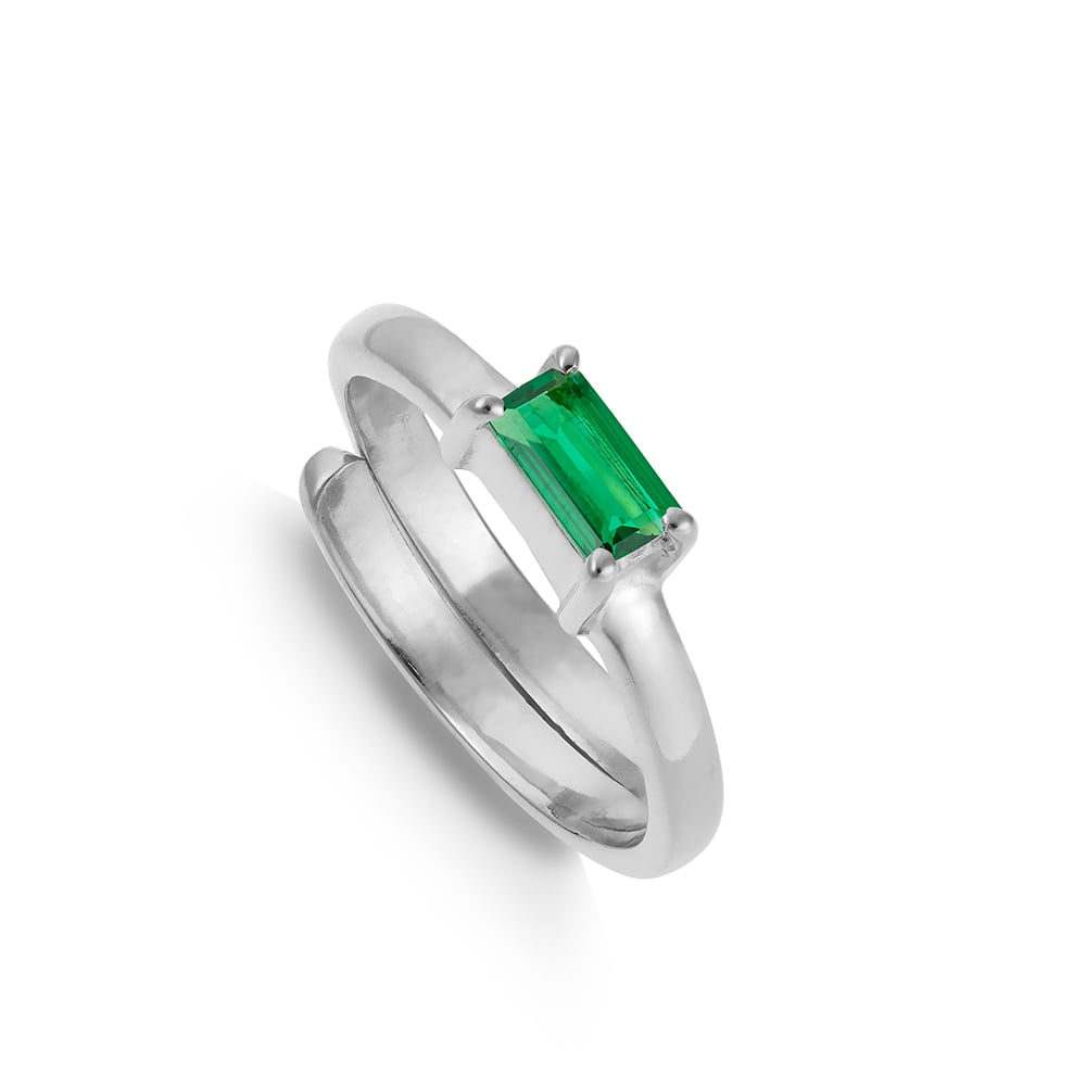 NVR02EMSS-Nirvana-Small-Dark-Emerald-Quartz-Sterling-Silver-SVP-Ring
