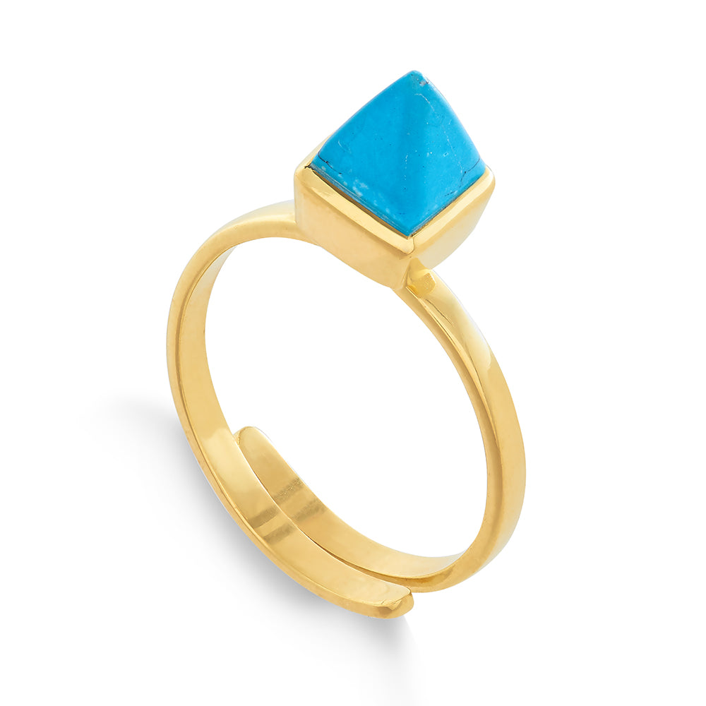 Rock The Casbah Turquoise Gold Ring