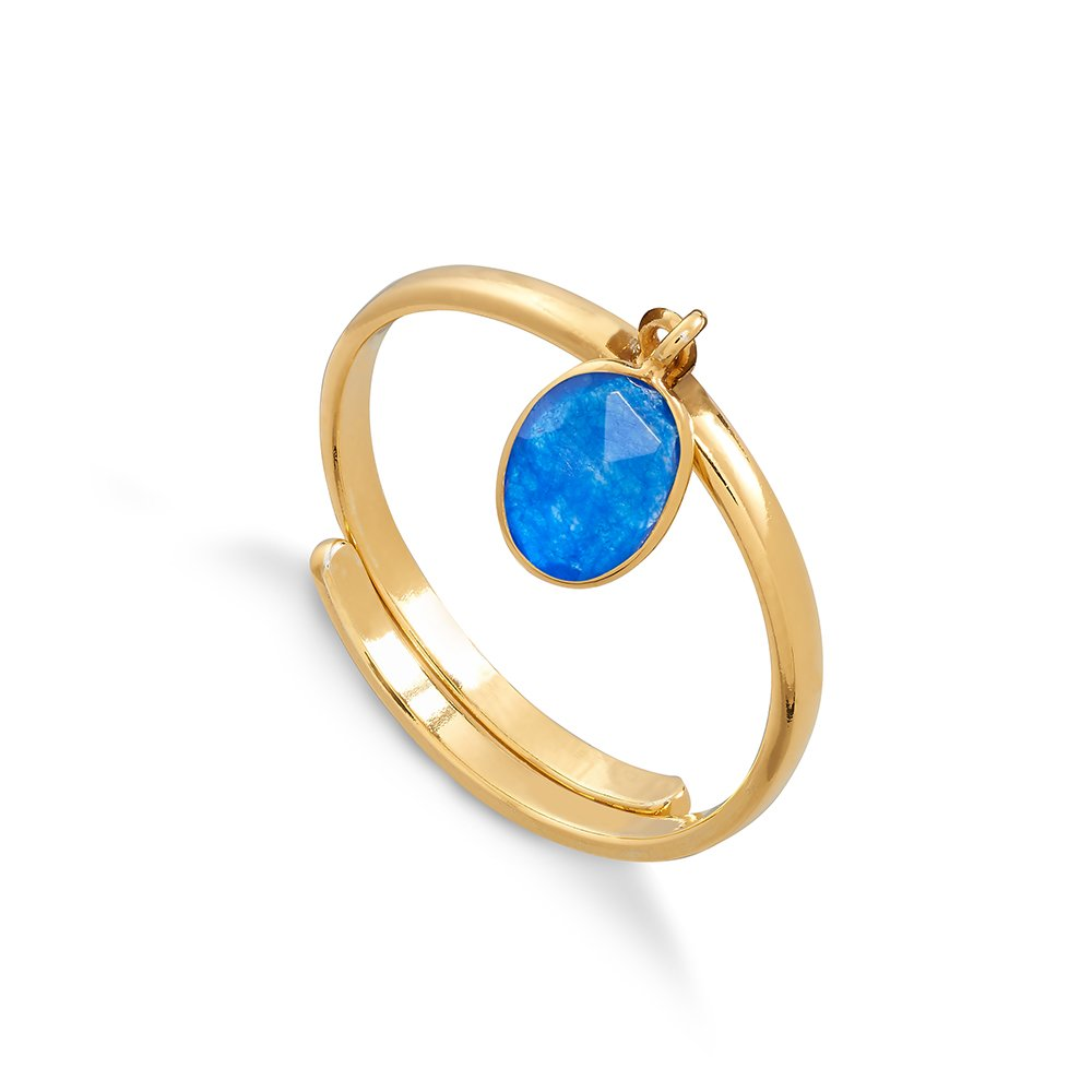 Rio Blue Quartz Gold Ring