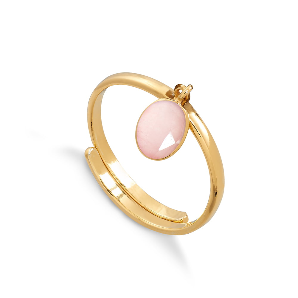 Rio Rose Quartz Gold Ring