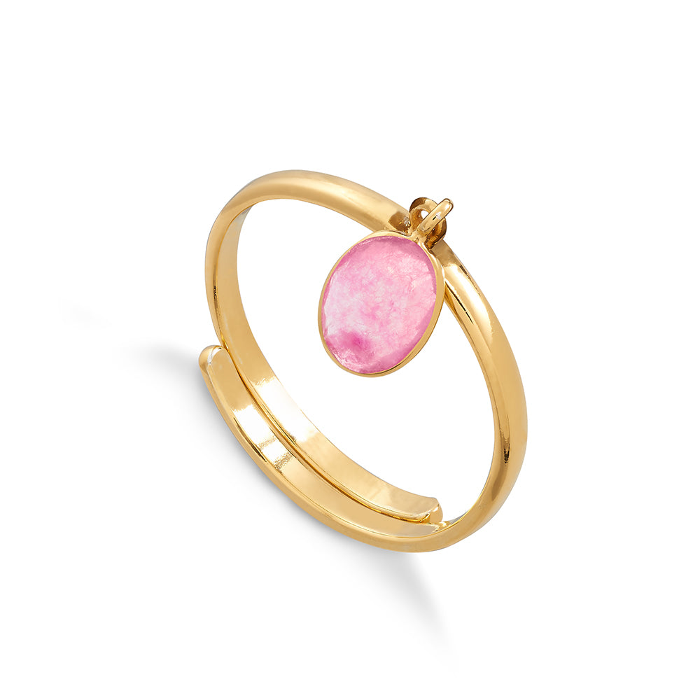 Rio Ruby Quartz Gold Ring