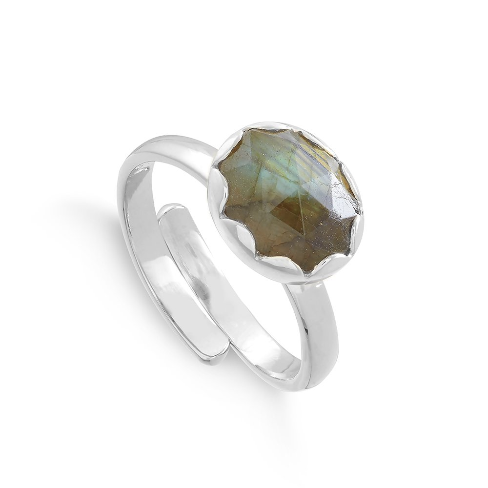 RTR02LASS_Rapture_Scallop_Labradorite_Sterling_Silver_SVP_Ring, SVP_Jewellery_Box for Adjustable Rings, SVP_Jewellery_Box for Adjustable Rings, SVP_Jewellery_Box for Adjustable Rings, Labradorite_Stone_Meaning_SVP_Jewellery