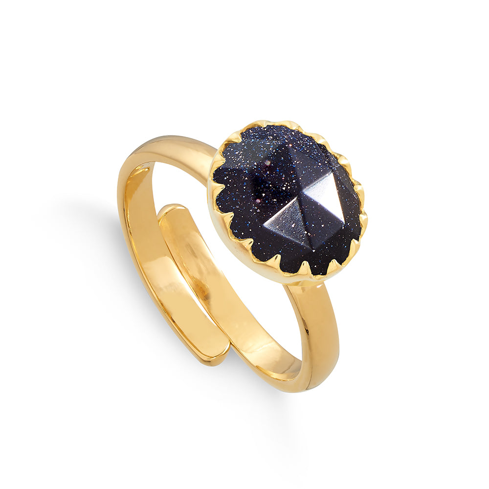 Sunday Girl Blue Sunstone Gold Ring