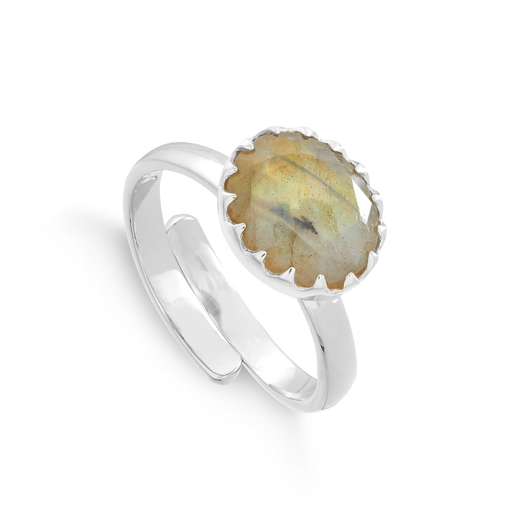 SVP Jewellery Sunday Girl Midi Labradorite Silver Ring, SVP_Jewellery_Box for Adjustable Rings, SVP_Jewellery_Box for Adjustable Rings, SVP_Jewellery_Box for Adjustable Rings, Labradorite_Stone_Meaning_SVP_Jewellery, How to size and style your SVP adjustable rings