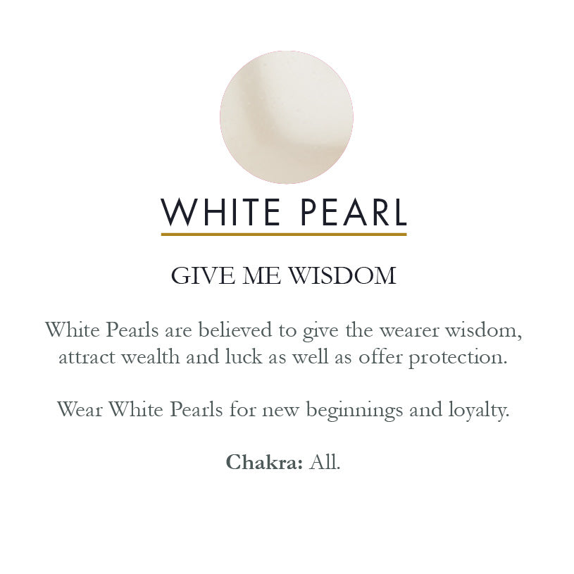 Kisses White Pearl Silver Ring