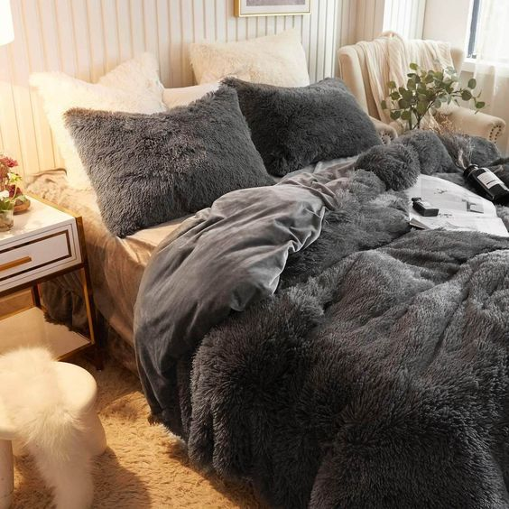 Dark Gray - Ultra soft velvet duvet cover + Pillowcases