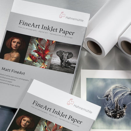 Hahnemühle FineArt Digital Inkjet Paper, Sheets and Rolls. Hahnnemuhle FineArt Inkjet Papers are ideal for fine art photography, digital art and the reproduction of paintings.
