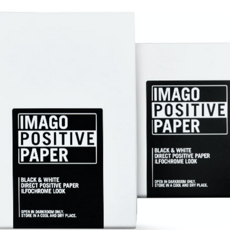Imago Direct Positive paper can replace the sheet film in large format cameras in various formats. Excellent for taking pictures with pinhole cameras, whether self-constructed or refined wooden cameras, and you can create photograms in the darkroom.