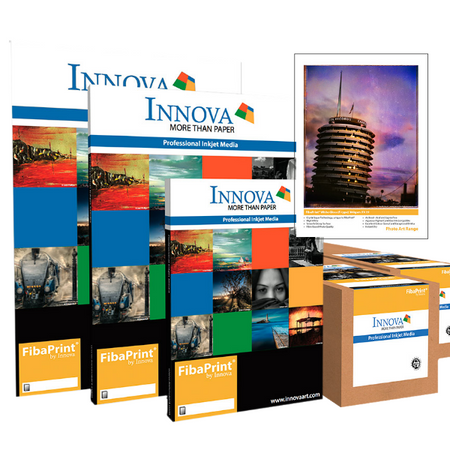 The Innova digital fine art range represents some of the worlds leading digital fine art papers, canvas and display products. For aqueous dye and pigment inkjet printers look at the Innova Editions, Fine Art, Photo Art and Olmec ranges.