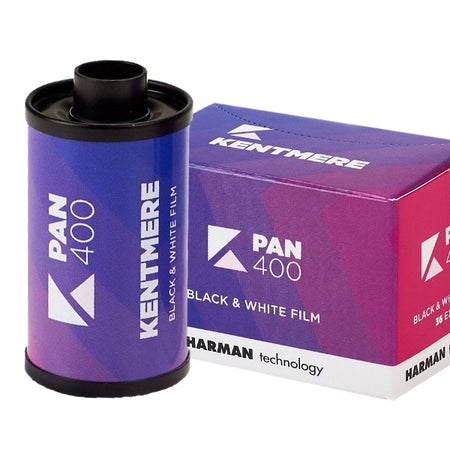 The Kentmere range is owned and manufactured by Harman technology using the same high quality processes as all Ilford Photo films and papers. The range consists of Kentmere 100 and 400 35mm film, and Kentmere VC Select Photo Paper in Glossy or Lustre.