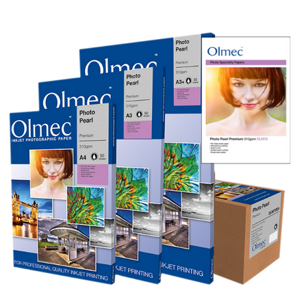 Olmec Professional Photo Paper for Quality Inkjet Printing With finishes & surface textures used by photographers worldwide. From 190gsm resin coated photographic papers, all the way through to archival fine art paper & 380 canvases.