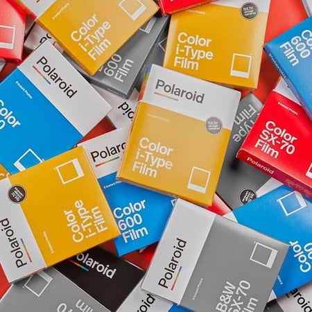 Polaroid for analog instant film, new cameras, vintage cameras, & more from the brand that captured millions of moments with its iconic white frame. Films range includes, Colour and B&W 600, Colour and B&W i Type and Colour and B&W SX 70.