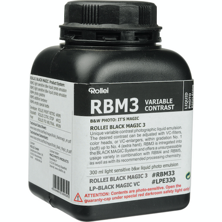 Rollei offers excellent black & white film, developer and liquid emulsion. The range includes panchromatic & orthochromatic film. Low & high-speed film developers and Rollei's Black Magic Liquid Emulsion, which you can coat on a wide variety of surfaces.