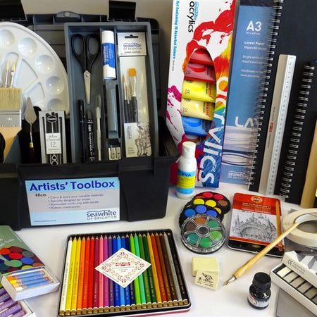 Seawhite's product range is aimed at the Art & Design and Design Technology sectors of education. Products include art and design kits, large sketchbook and pad range, own specification drawing/painting papers. Also the original polyholdall, plastic art h