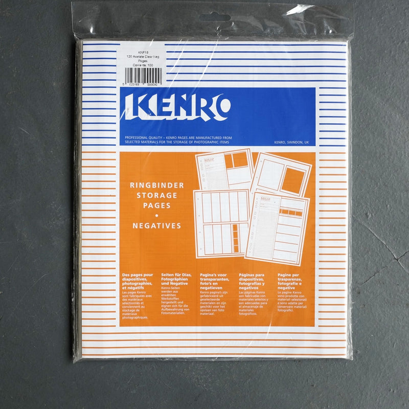 Kenro 120 Clear Negative Pages 100 Pack