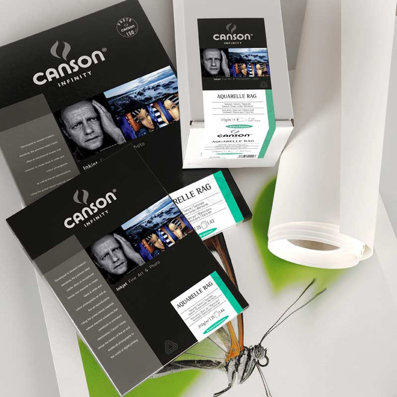 Canson Aquarelle Rag 310gsm A4 25 Sheets