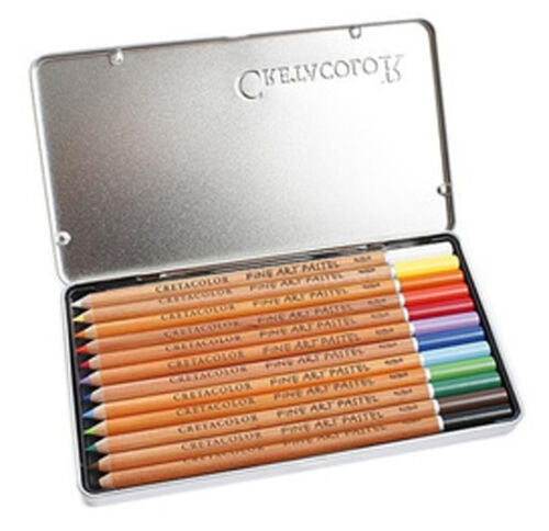 Cretacolor Fine Art Pastel Pencils 12 Colour Tin