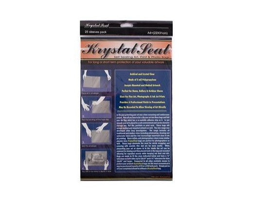 Krystal Seal Sleeves,Pack of 25