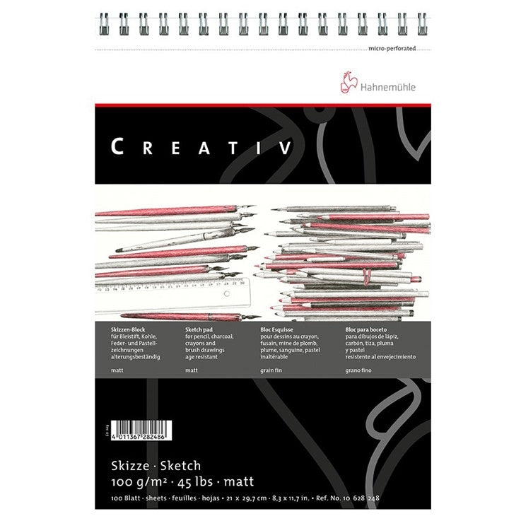 Hahnemuhle Creativ Spiral Bound Micro-Perf 100 Sh