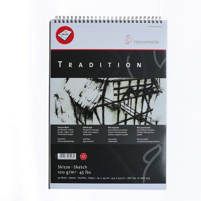 Hahnemuhle Tradition Spiral Bound Micro-Perf 50 Sheet