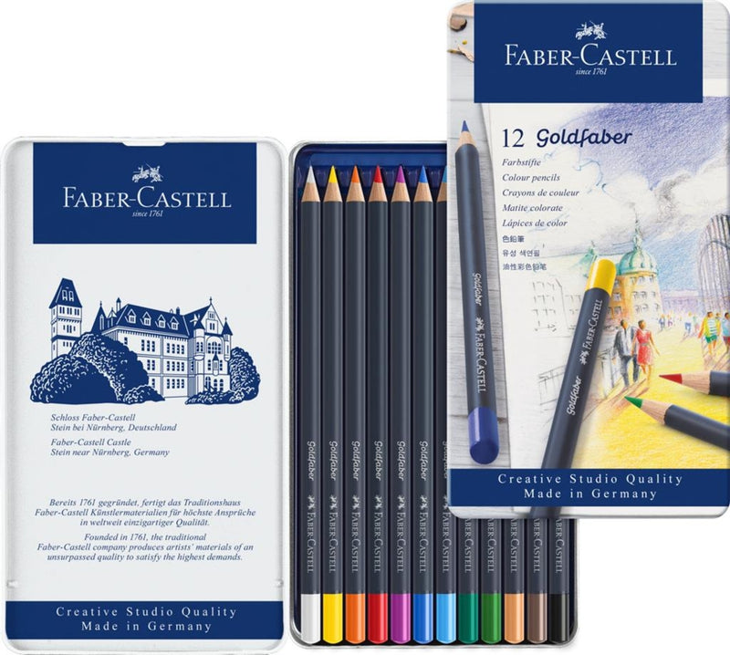 Faber-Castell Goldfaber Colour Pencil Tin of 12