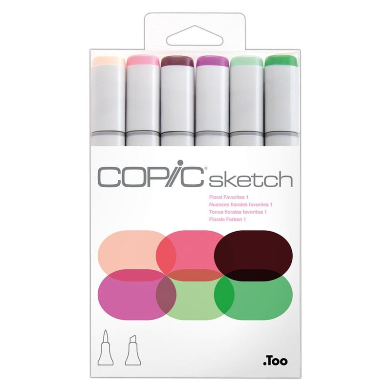 Copic Sketch 6pcs Set - FloralFavorites 1