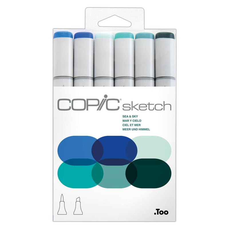 Copic Sketch 6pcs Set - Sea &Sky