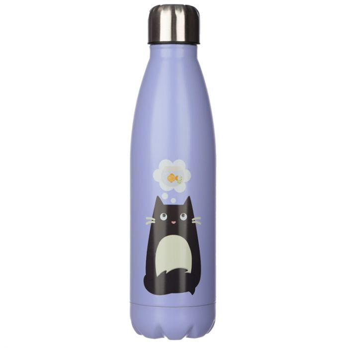 Feline Fine Cat Reusable Stainless Steel Hot & Cold Bottle