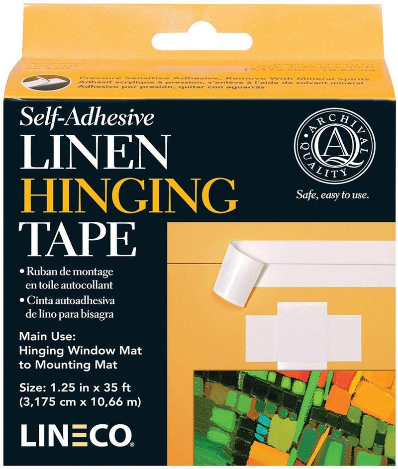 Self-adhesive linen tape from Lineco is an extra strong, very thin linen cloth, coated with a neutral pH non-yellowing pressure sensitive acrylic adhesive.