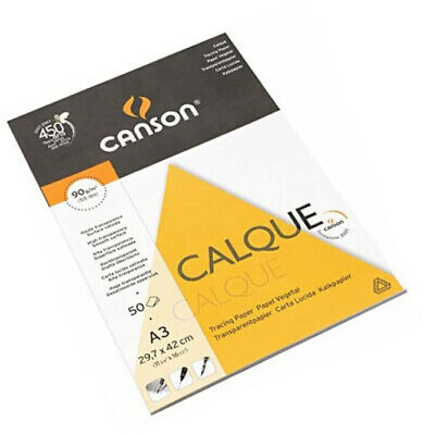 Canson Tracing Paper Pad 90gsm 50 Sheets