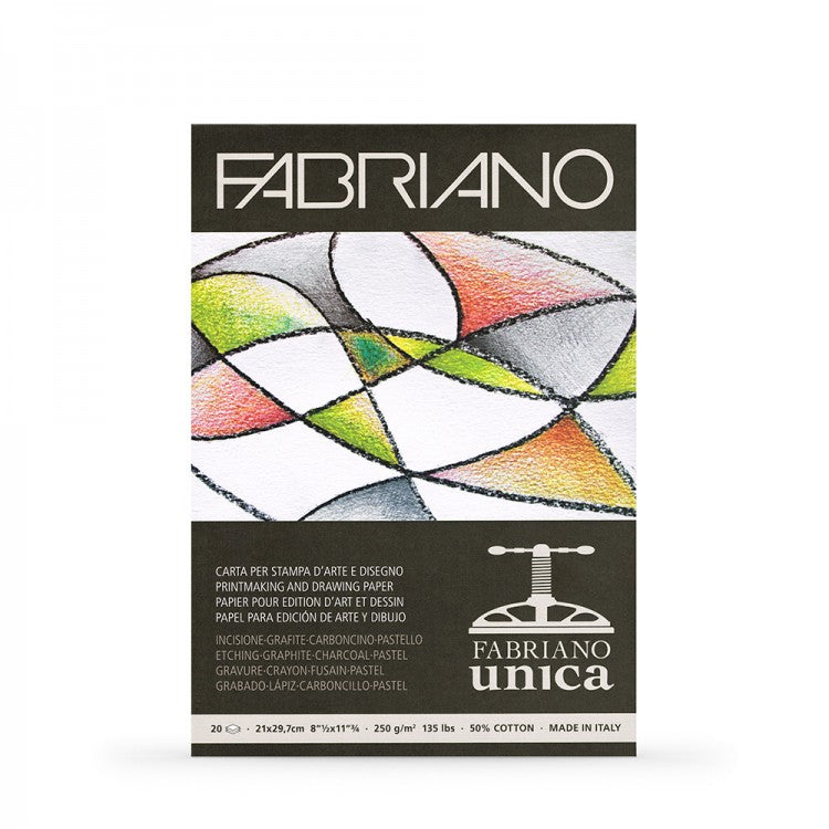 Fabriano Unica White Pad 250gsm 20 Sheets