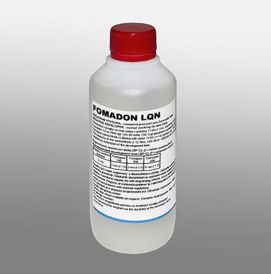 FOMADON LQN is a high-durable liquid concentrate of phenidone-hydroquinone, normal-working developer is designed for manual processing of black and white negative films.