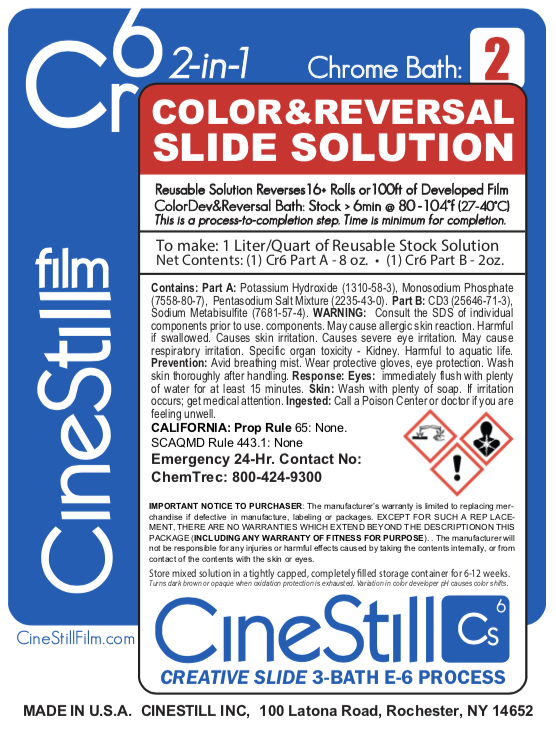 CineStill Cr6 Colour & Reversal Slide Solution