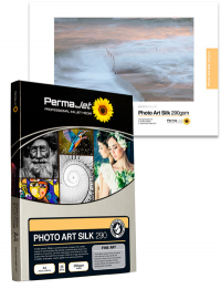 A luxurious, smooth silk finish inkjet paper which defines the high quality of the PermaJet fine art range. With a hefty base weight of 290gsm, this acid-free media only reveals its magical and undetectable silk coating once the image is printed.