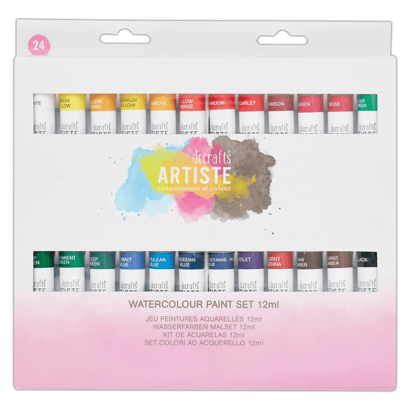 Artiste WatercolourPaint Set  12ml (24pk)