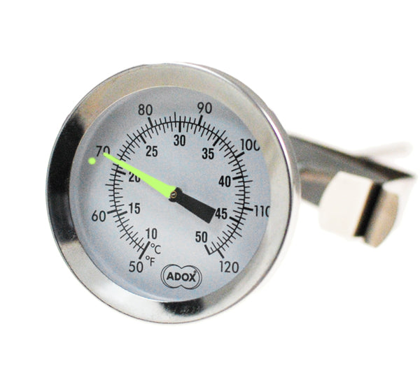 Adox precision thermometer with glowing marker