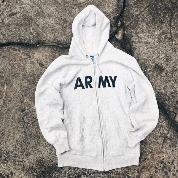 Original Late 80's Champion Army Zip-Up.