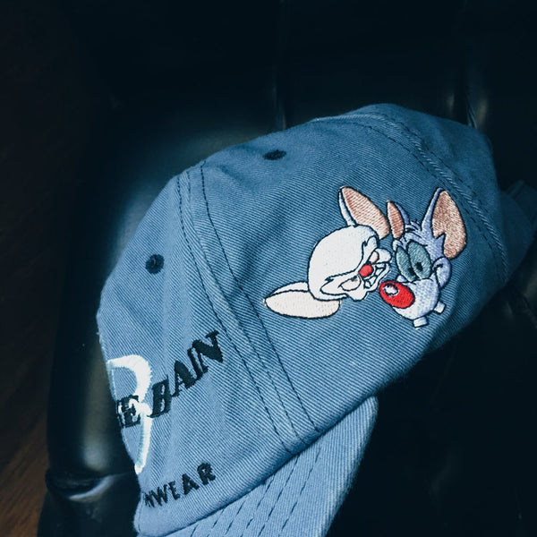 Original 1998 Pinky And The Brain Strapback Hat.