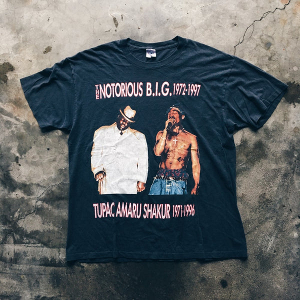 Original 1997 Bootleg Tupac/Bigging Memorial Rap Tee.