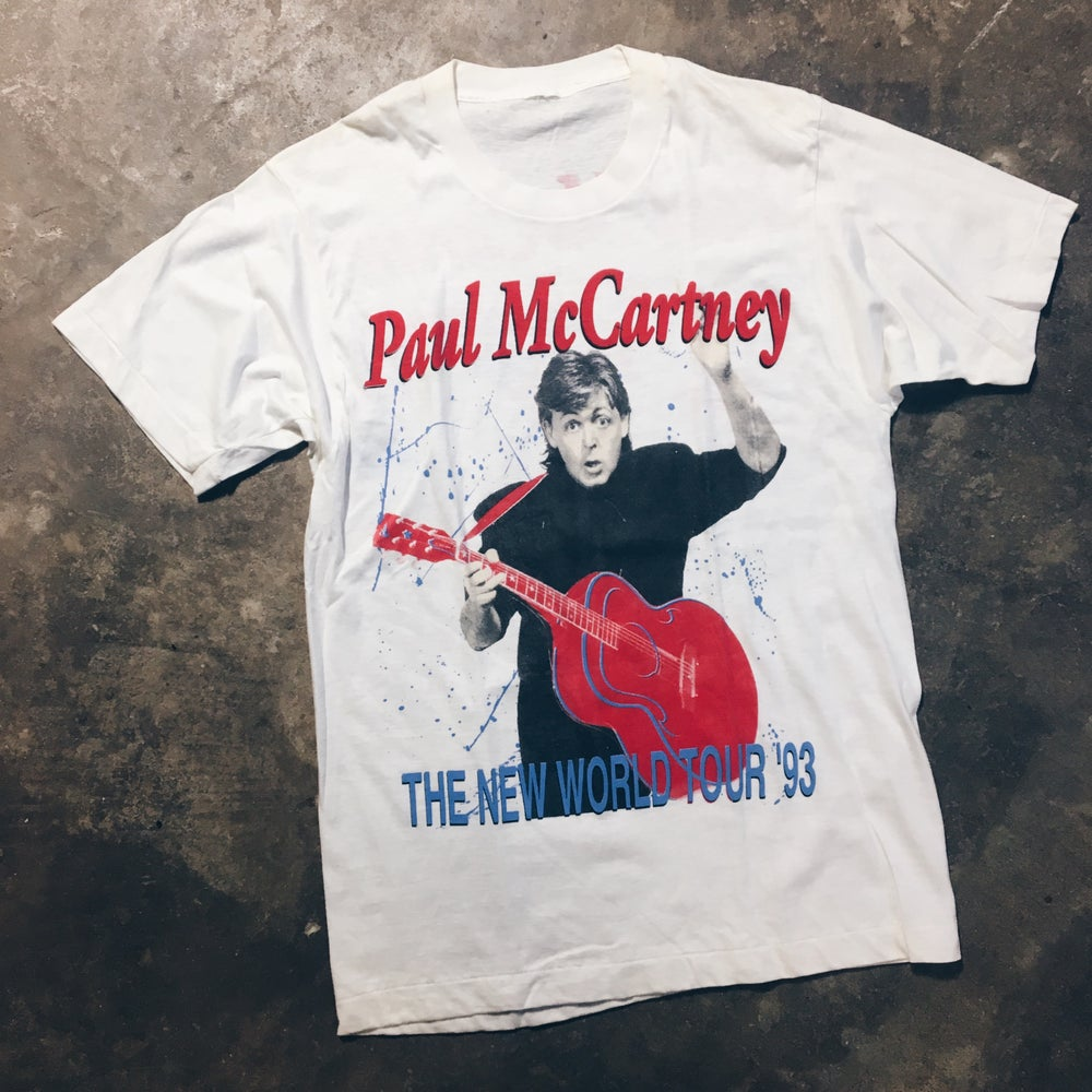 Original 1993 Paul McCartney World Tour Tee.