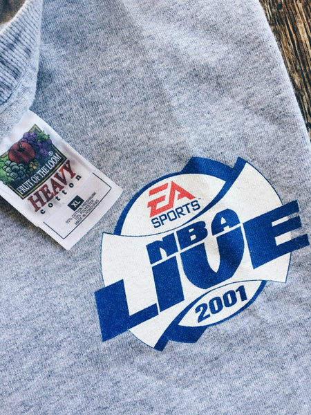 Original 2001 EA Sports NBA Live Promo Tee.