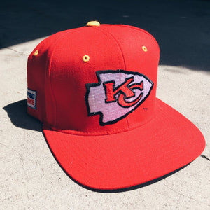 Original 90's Starter Kansas City Chiefs Elastic-back Hat.